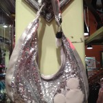 Who couldn't use a sparkly silver mickey hobo???