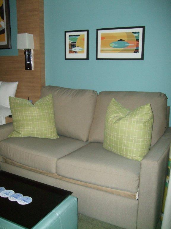 Disney Vacation Club Bay Lake Towers Couch Area
