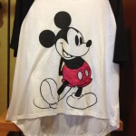This stylized Baseball T-shirt is adorable. The Mickey applique has satin details that make is shine in the light.