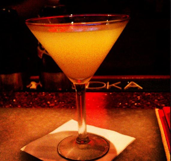 A Lovely martini from the Red Coconut Club
