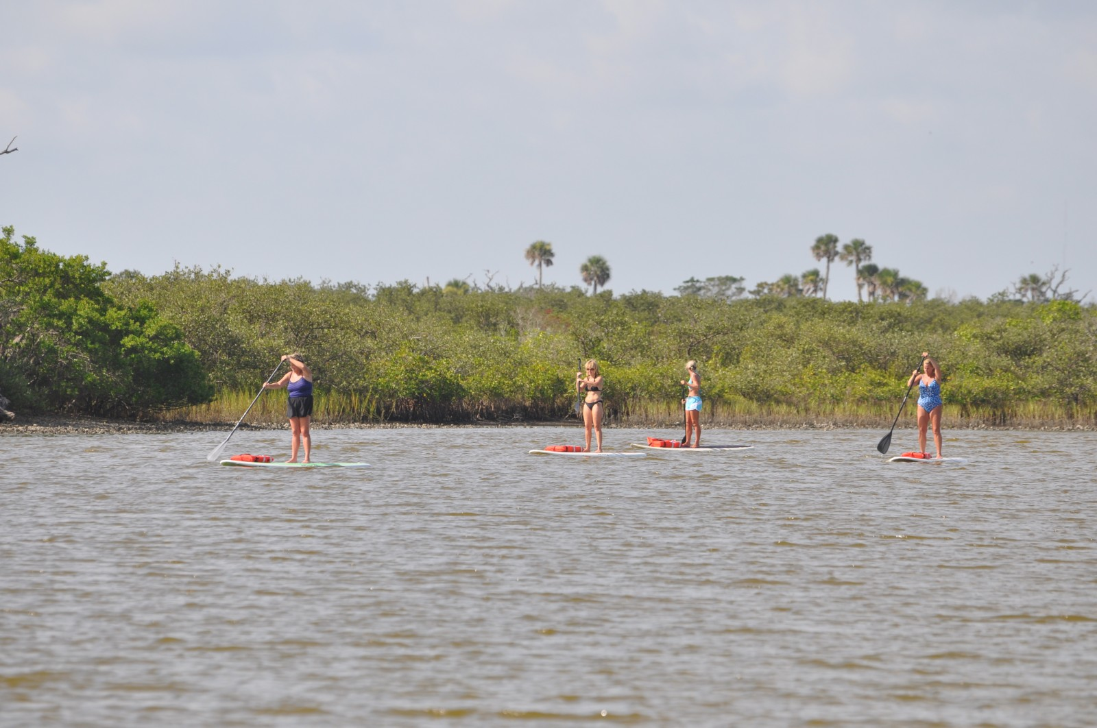 East Coast Paddle Group on Water