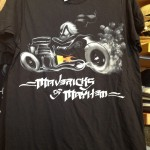 Donald  on his Motorcycle- Mavericks of Mayhem Men's Shirt - Front
