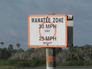 Indian River Manatee Sign