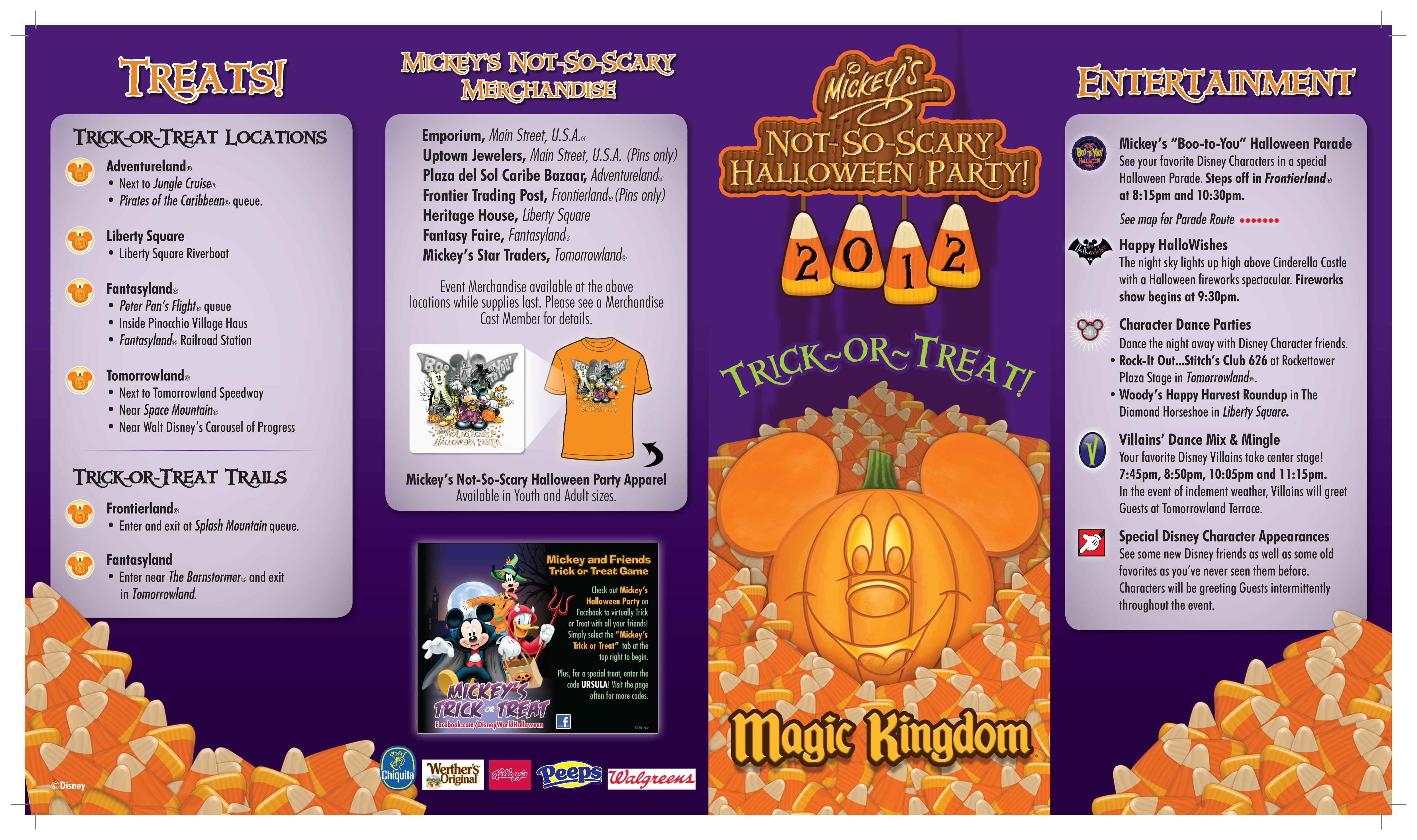 Mickey S Not So Scary Halloween Party Map Cover 2012 On