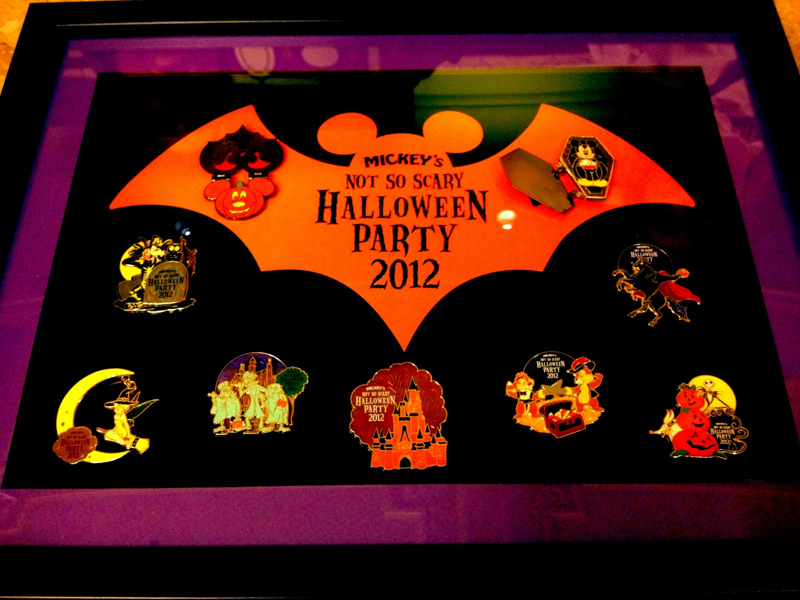 Mickey's Not So Scary Halloween Party Merchandise - Framed Pin Set - $200.00 - - Weekly Review