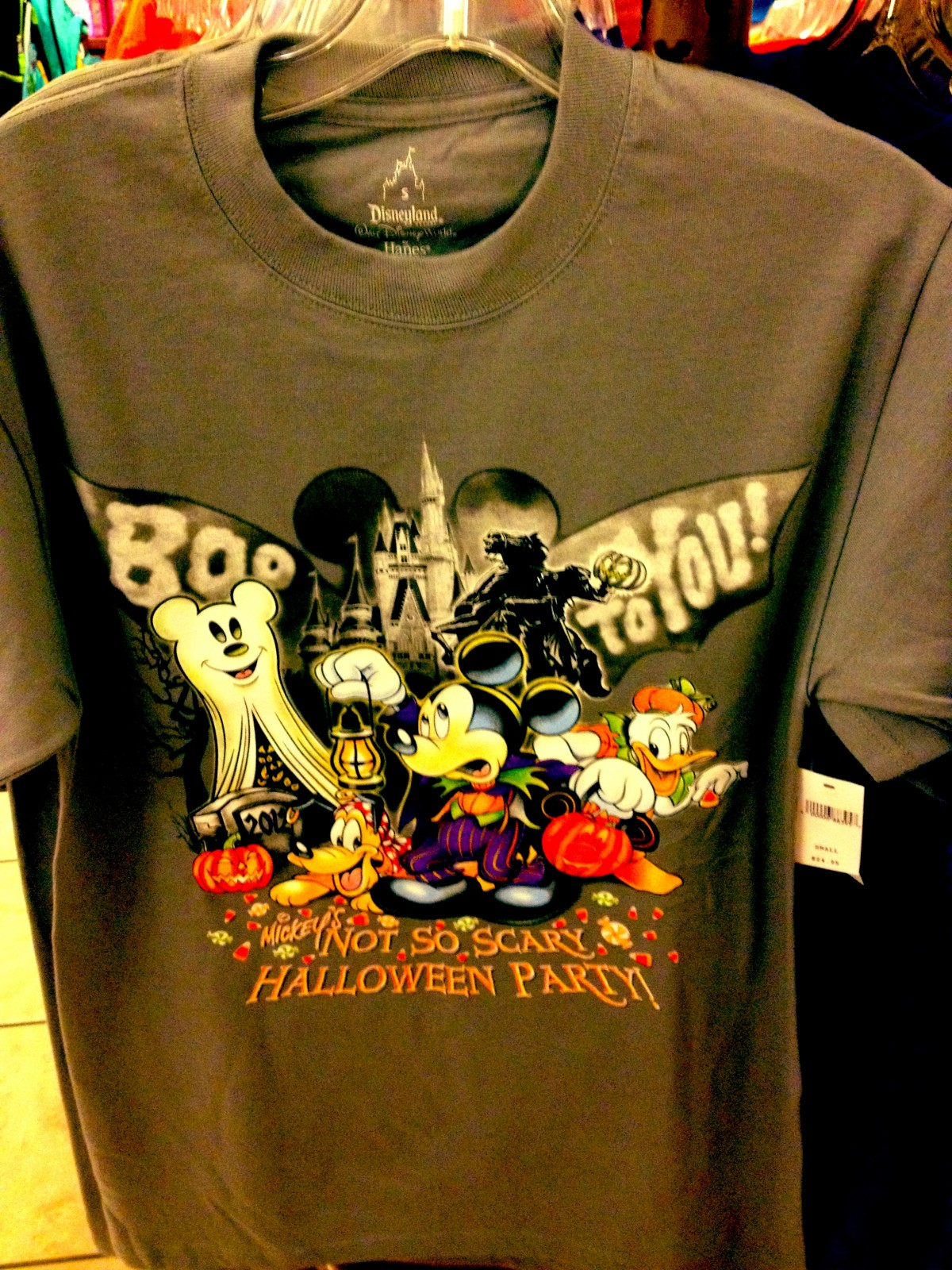 mickey's not so scary halloween party merchandise - grey men's shirt