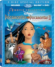 Walt Disney Pocahontas and Pocahontas II is available on Blu-Ray on August 21, 2012.