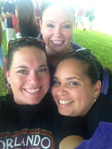 Shalon, Shelley, and I at the Orlando City Soccer Pre-Game Tailgate.