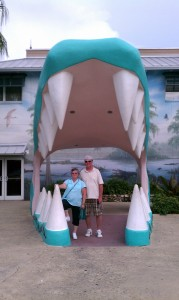 Mom and Dad at the Gator's Mouth!