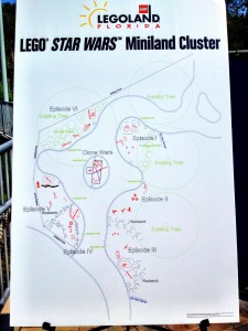 A closer look at the Star Wars Miniland Cluster Model Layout.