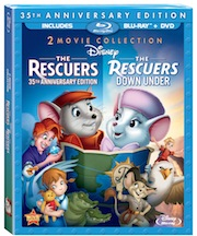 The Rescuers and The Rescuers Down Under Available Now on Disney Blu-Ray!