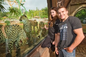 McKayla Maroney and Jonathan Horton at Busch Gardens Tampa Bay