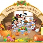 Mickey and the gang celebrating Thanksgiving