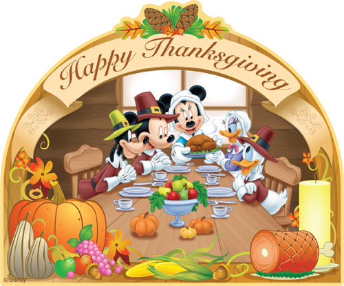 Mickey and the gang celebrating Thanksgiving Disney Vacation Club