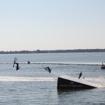 Flipping waterskiiers