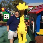 Hugging a Giraffe in Duplo Village