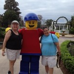 Mom and me with Lego Man