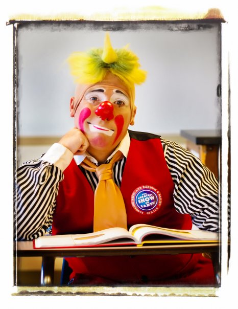 Reading With Ringling Clown Around Central Florida