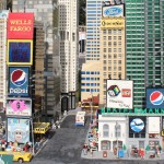 The Sound of Plastic sign in Times Square is my favorite detail