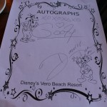 Autographs from Goofy and Donald