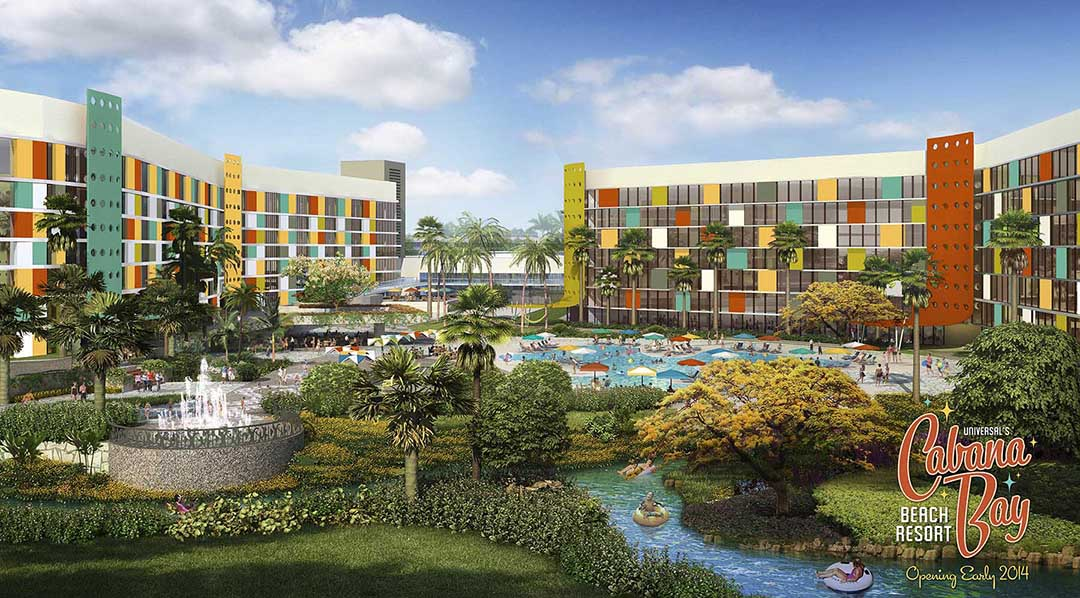 Cabana bay beach resort south courtyard lr on the go in mco for Hotels universal orlando