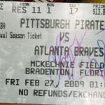 Chipper Jones and Terry Pendleton signed my ticket