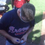 Chipper Jones signing my game ticket