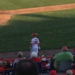 Former Brave Adam LaRoche on deck for the Nationals