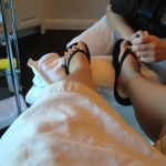 Getting my pedicure