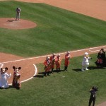 Jedi Mickey and the gang singing Take Me Out To The Ball Game