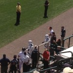 Stormtroopers guarding the Braves dugout