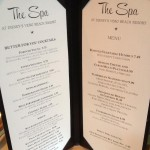 The Spa Menu