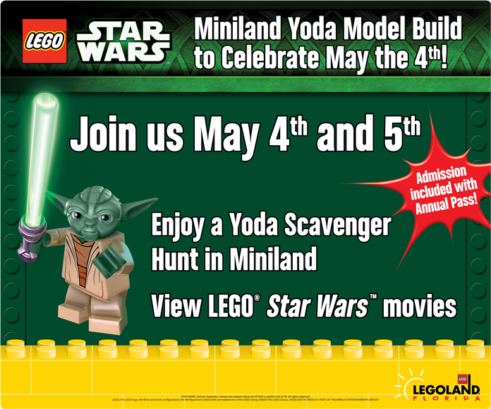 LEGOLAND Florida Miniland Yoda Model Build
