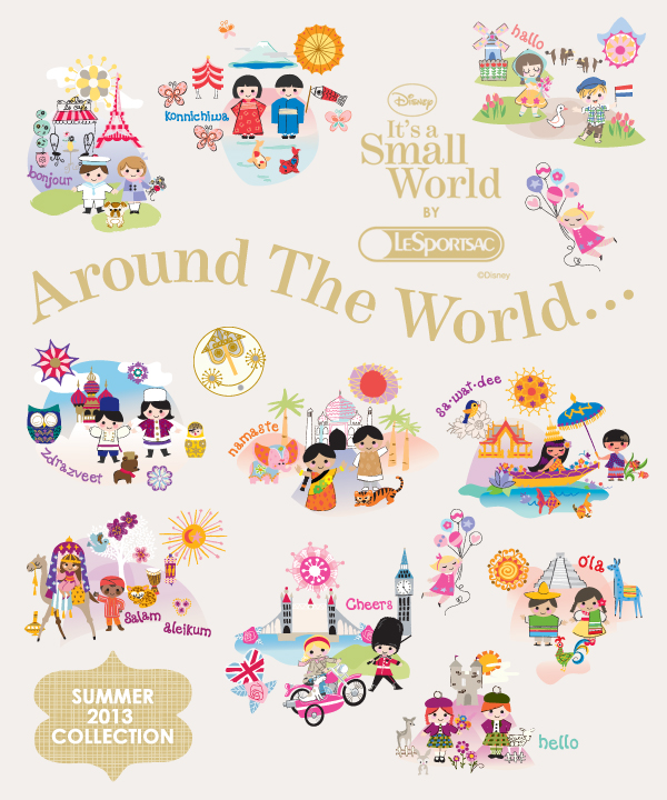 89e6cd0f8c9 LeSportsac It s A Small World Summer 2013 Print - On the Go in MCO