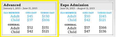 D23 Expo Pricing