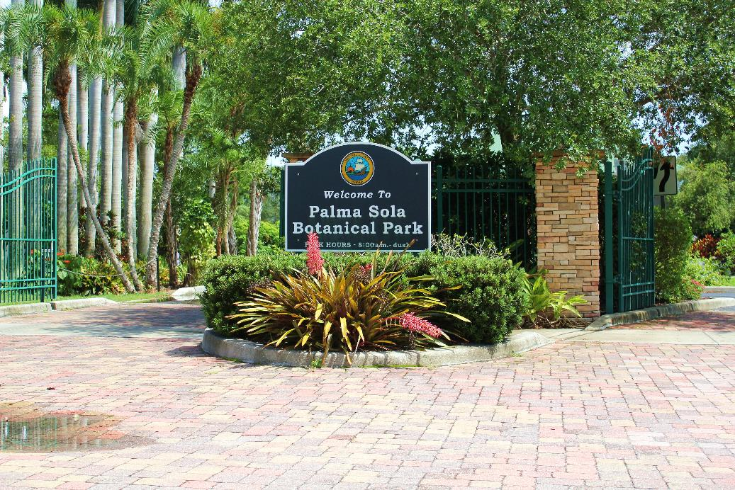 Palma Sola Botanical Park Entrance On The Go In Mco