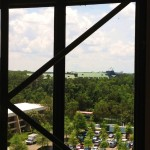 Spaceship Earth and Wilderness Lodge from the Tower