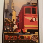 Red Car Trolley poster inspiring the shirt