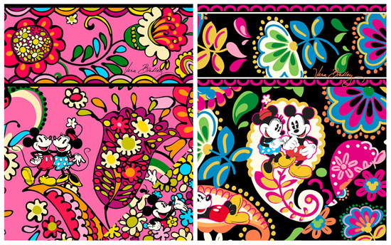 Disney Vera Bradley Patterns Disney Collection by Vera Bradley