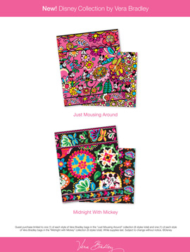 Disney Vera Bradley Patterns Up Close Disney Collection by Vera Bradley