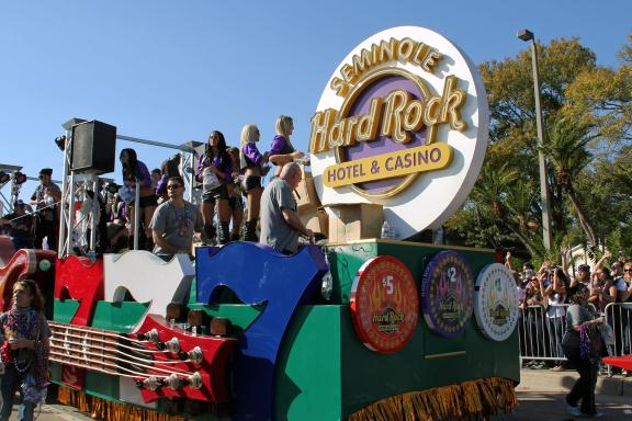 Seminole Hard Rock Tampa Gasparilla Float