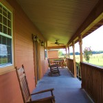 Cabin wraparound porch