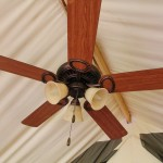Glamping tent ceiling fan