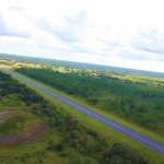 Private airport runway at the ranch
