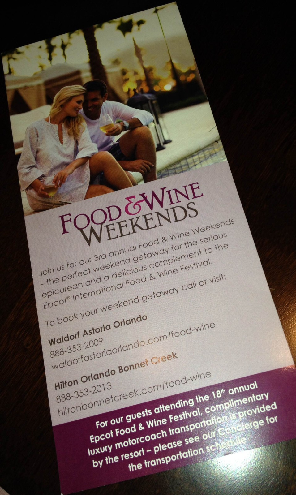 Food & Wine Weekends