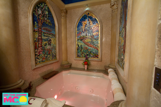 cinderella castle suite bathtub