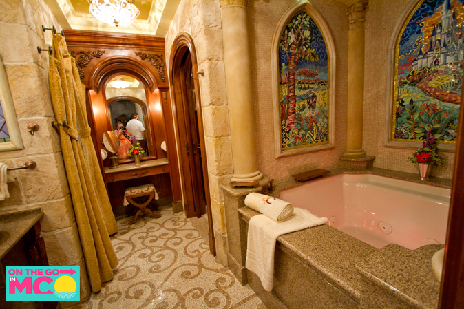cinderella castle suite bathroom