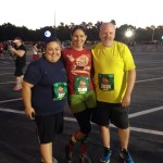 With Scarlett and Doug before the race