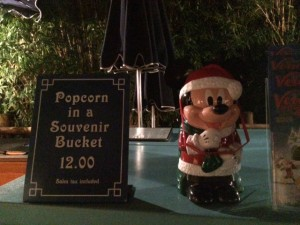Mickey's Very Merry Christmas Party popcorn