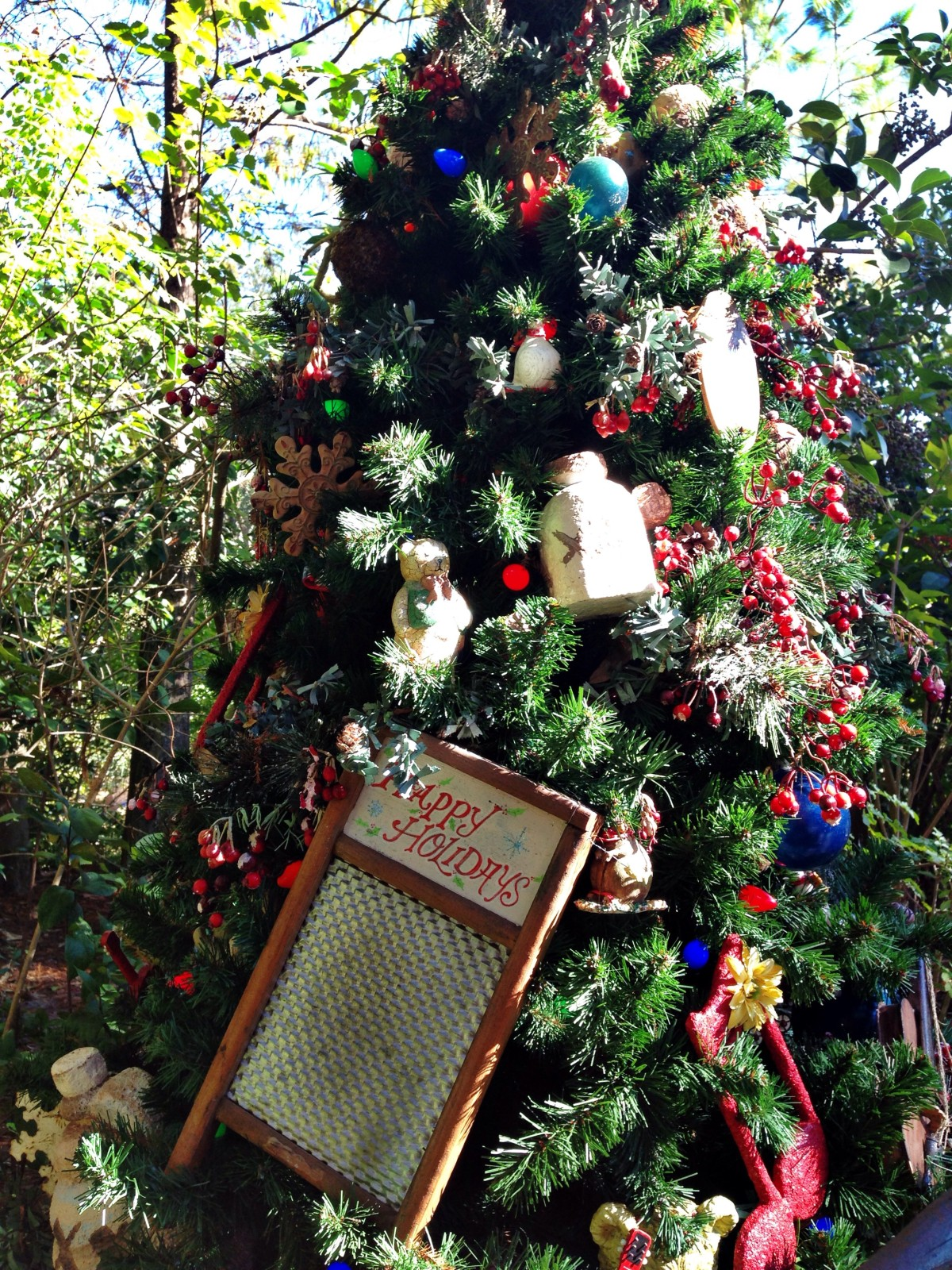 Animal Kingdom Character Christmas Trees